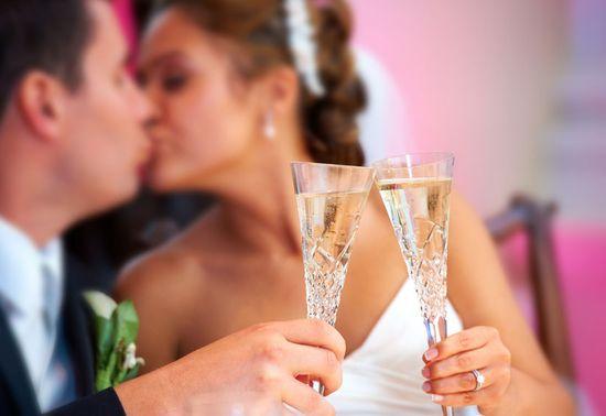 A romantic wedding scene