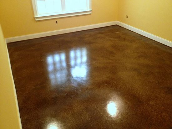 Stained cement floors (good idea for our basement)
