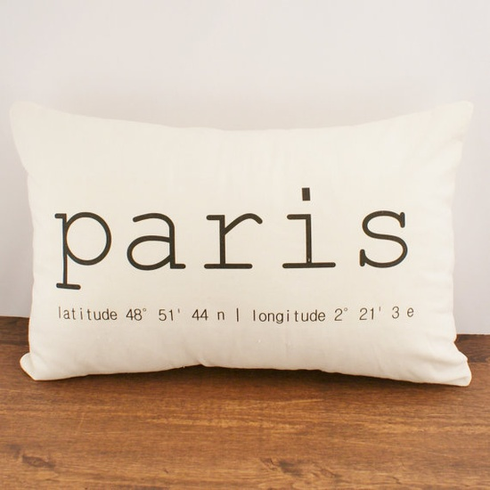 Paris Coordinates OR Custom Coordinates  Hemp by sarahsmiledesign, $35.00
