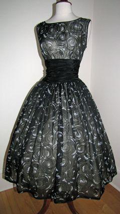 1950's Chiffon Party Dress