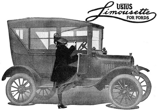 Wouldn't you just love to drive (or be driven!) around in a car called a Limousette? #vintage #1910s #Edwardian #car #ad
