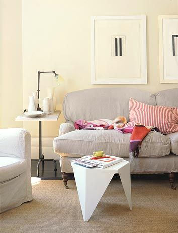 Warm, modern living room: Noguchi table + English roll arm sofa by xJavierx, via Flickr
