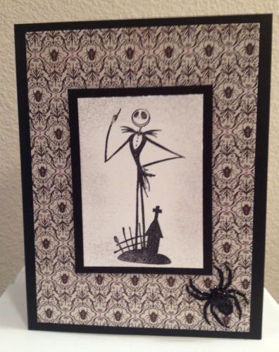 Nightmare Before Christmas Jack Skellington Card Handmade Halloween Card
