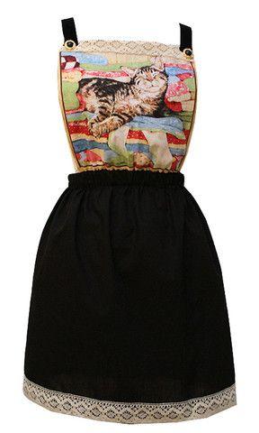 Cat Pinafore Dress - Vintage Style Me