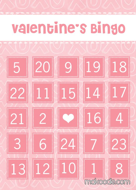 XOXO Valentine's Bingo Cards - Free Printable