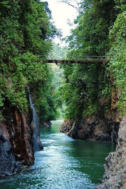 Canyon of Rio Pacuare in Cordillera de Talamanca, Costa Rica