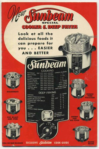 New Sunbeam Special Cooker and Deep Cook Guide 1952