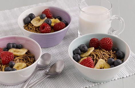 All Bran with fresh fruit