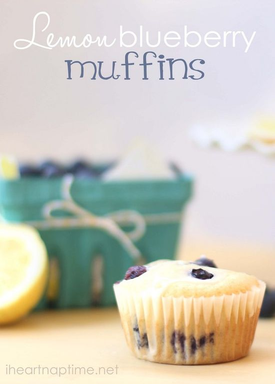 The BEST lemon blueberry muffins #food