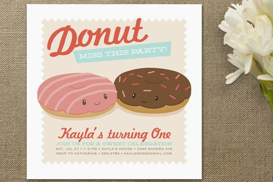 Donut Miss the Party! Children's Birthday Party... at Minted.com