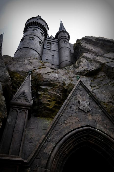 Looking up at the castle.