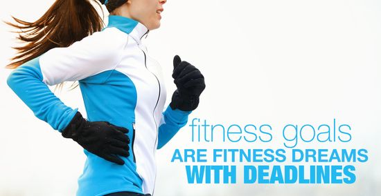 Fitness Goals are Fitness Dreams with Deadlines - Yes! #skinnyms #fitness