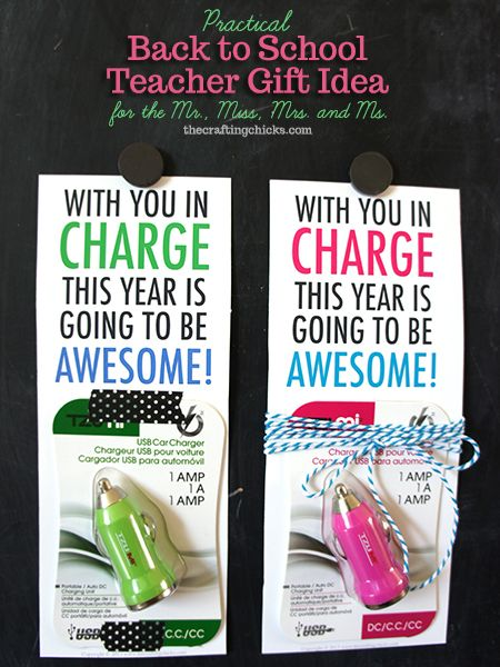 great back to school gift for any teacher, even the men!