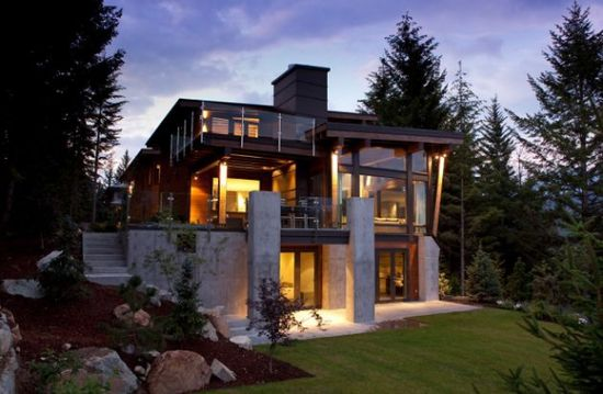 Excellent example of a modern house design