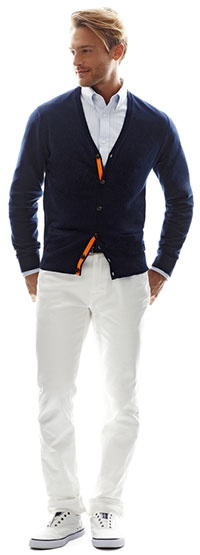 jcp cardigan and white denim jeans #nickspicks