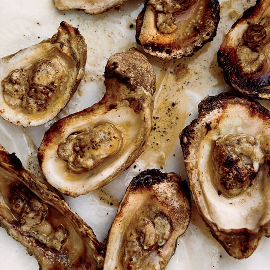 Grilled Oysters with Spicy Tarragon Butter // More Grilled Seafood: www.foodandwine.c... #foodandwine