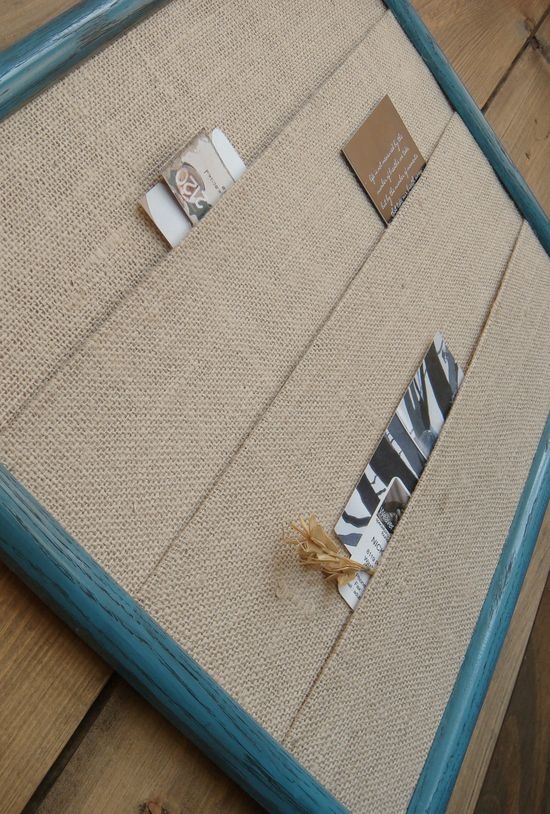 burlap and a frame...