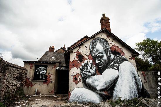 3D Street Art in Rennes, France