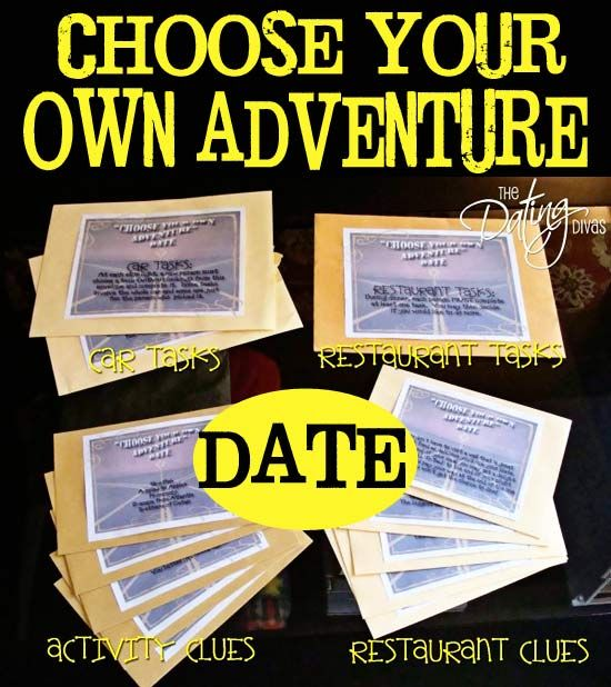 Want to do something fun and different for date night, but have no clue what to do?   This date is for you!  All of the printables are included- just print and go. www.TheDatingDiva... #datenight #creativedates #datingdivas