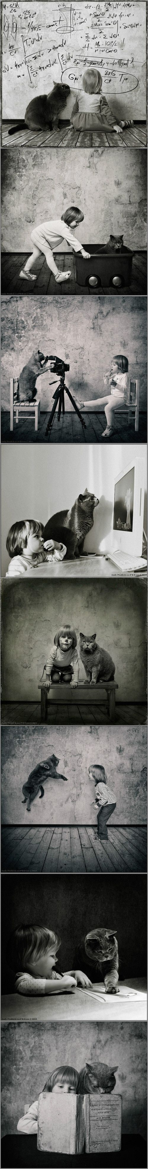 Once upon a time a cat had a girl and a girl had a cat...