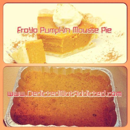 FroYo Pumpkin Mousse Pie #healthy #dessert #pumpkinspice