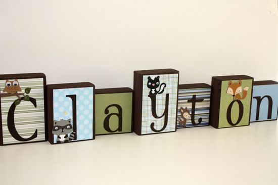 This would be so cute to make with scrapbook papers for a child's room.