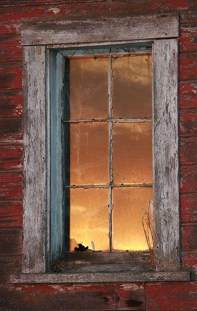 Sunset Light On Window
