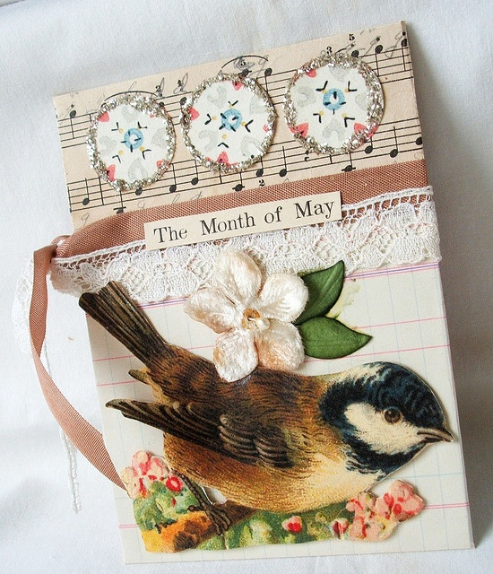 sweet card with bird