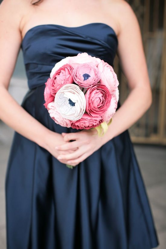 The Ranunculus Paper Flower Bouquet by sunnyandstumpy on Etsy, $270.00