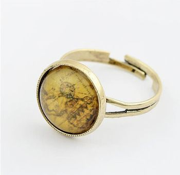 hand made ancient maps ring