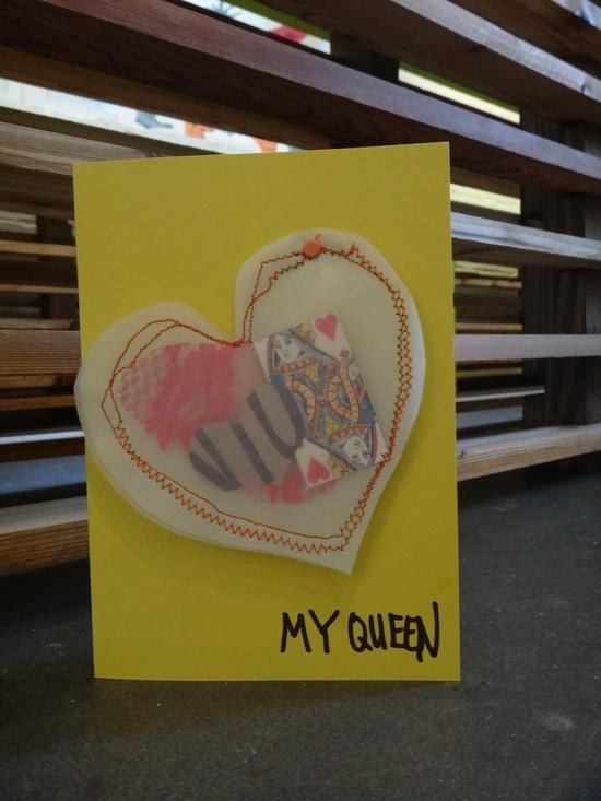 Handmade Valentine card, 5x7