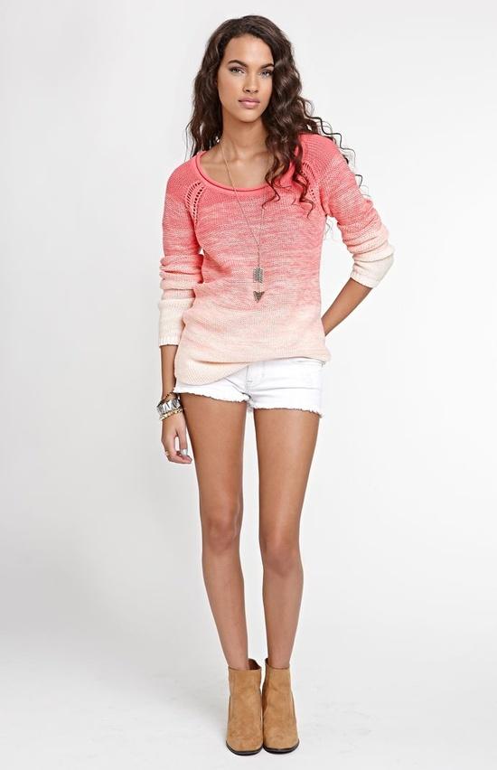 Kirra Eyelet Raglan Seam Sweater #Kirra #PacSun