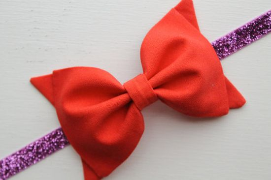 Baby Girl Toddler and Girls Fabric Bow Headband by TheSplendidBow