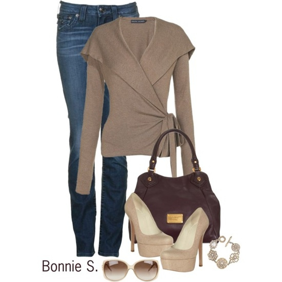 """""""wrap cardigan"""" by bonnaroosky on Polyvore"""