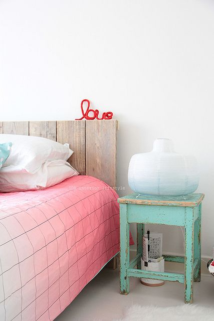 Pink ombre + mint