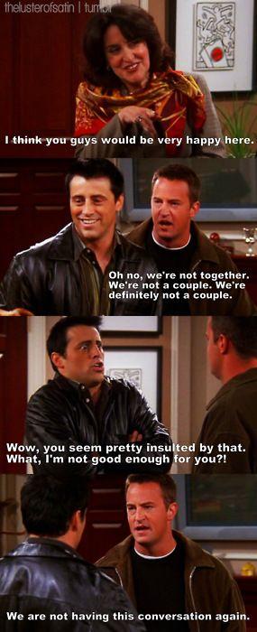 Joey and Chandler's bromance HAHA