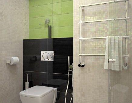 Modern apartment bathroom interior