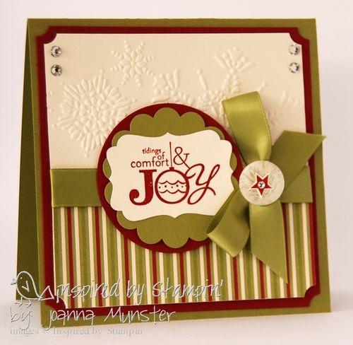 Pretty yet simple handmade Christmas card