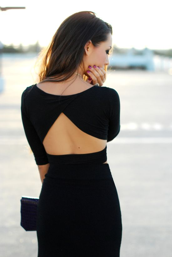 lbd with cutout back