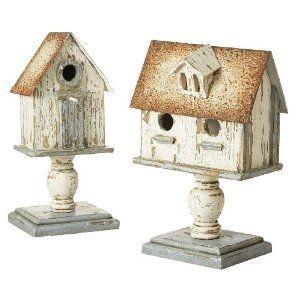 bird houses on pedestals