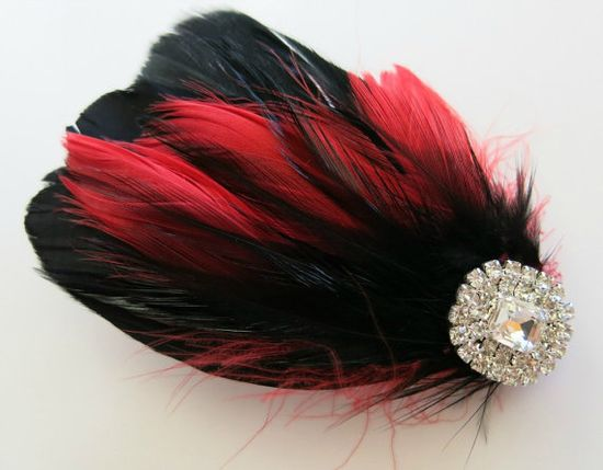 Bridal Wedding Bridesmaid Feather Hair Accessory by parfaitplumes, $22.00