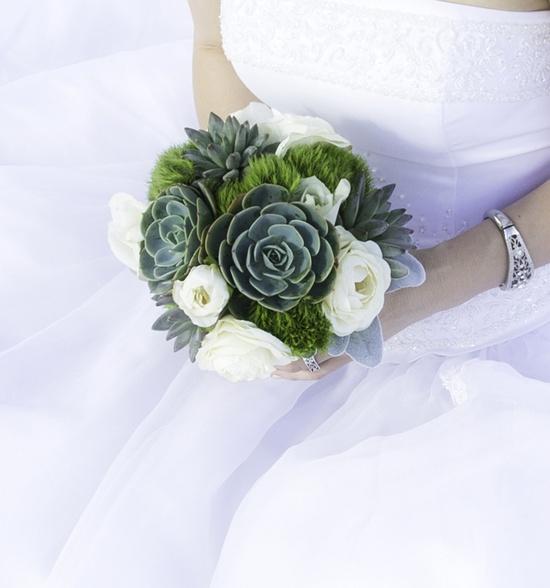 So much better than the fragile traditional bouquets.  Succulent Wedding Bouquet, Rustic bouquet, Spring wedding bouquet, Alternative Bouquet,Green bouquet. via Etsy.