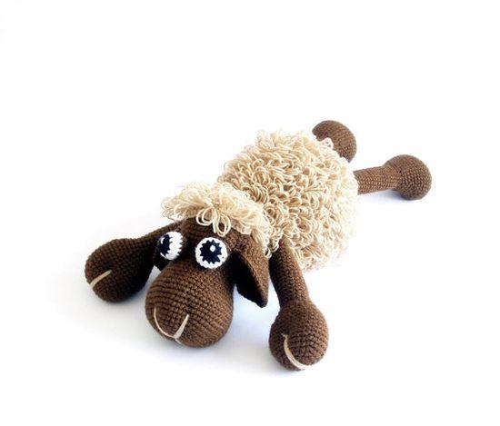 Brown Beige Sheep  Crocheted Toy Crocheted Toy Kids Children via Etsy