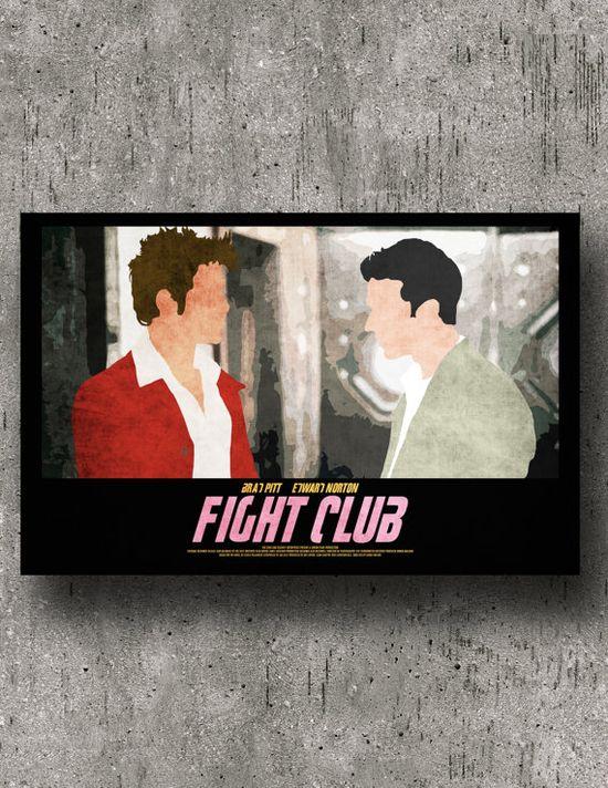 Fight Club 17 x 11 minimalist Movie Poster