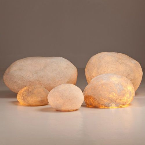 Luminous Rock Modern Floor Lamps by Andre Cazenave