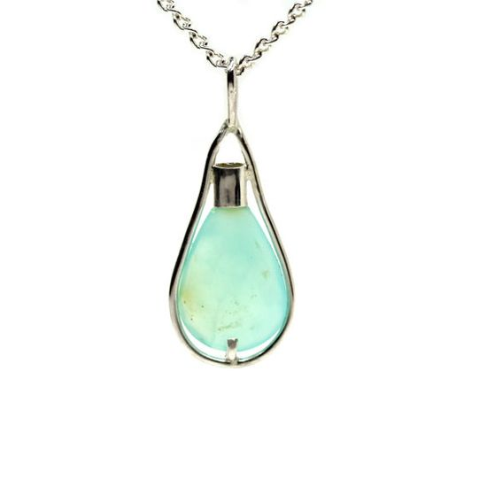 Blue Andean Opal Light Bulb Necklace