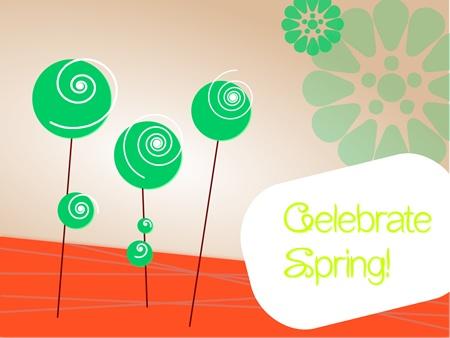 Happy in Red: Free printable: celebrate spring