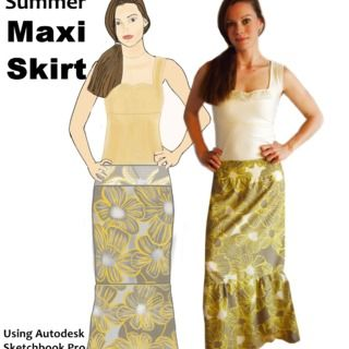 DIY Summer Maxi Skirt - Simple & Stylish