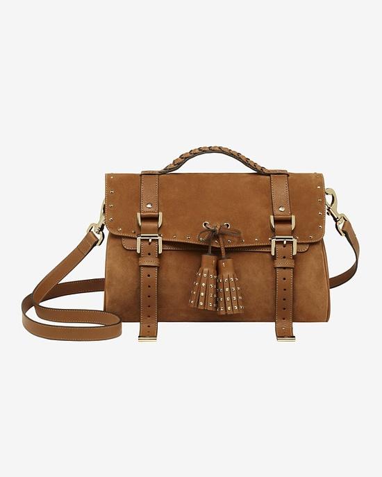 Mulberry Tassel Bag Heavy Suede: Oak