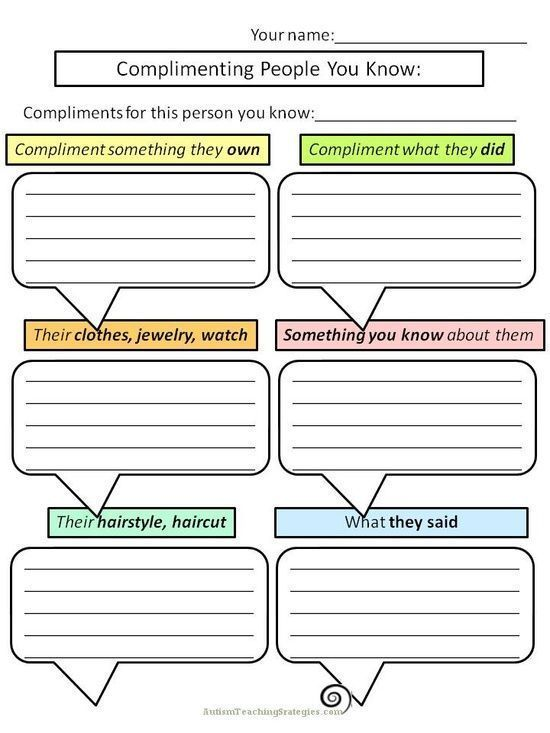 Great worksheets for social #soft skills #self personality